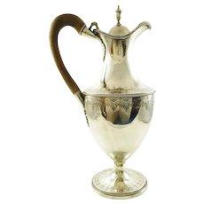 Antique Georgian Sterling Silver Wine Ewer or Jug