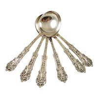 Gorham Sterling Silver Bouillon Spoons Coligni Pattern