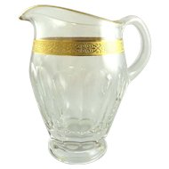 Lady Hamilton Pitcher or Jug by Moser Gold Encrusted Band