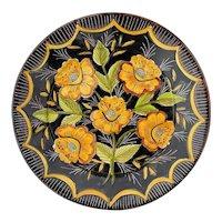 Vintage Signed Anibal Rosado Earthenware Plate