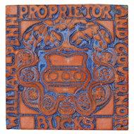 Signed Special Edition Moravian Tile - William Penn Proprietor And Governor, Circa 2004