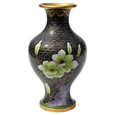 Vintage Chinese Cloisonne Floral Vase