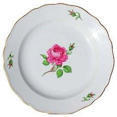 Vintage Meissen Porcelain Rose Lunch Plate