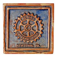 Vintage Moravian Tile - Rotary International Newtown PA, Circa 1981