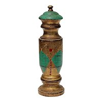 Vintage Florentine Decorated Gilt Wood Pepper Mill