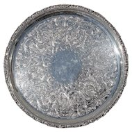 Vintage English Silver Plated Salver Tray