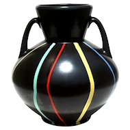 Large Signed Mid-Century Modern Art Pottery Vase, Circa 1950