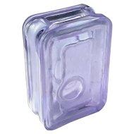 Partially Frosted Violet Crystal Modern Vase