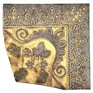 Early Vintage Carved Wood Wallpaper Or Textile Stamp Block