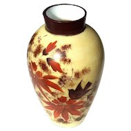 19th Century Hand-Decorated Bristol Glass Vase