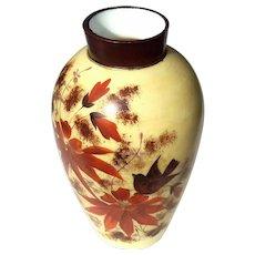 19th Century Hand-Decorated Bristol Glass Vase