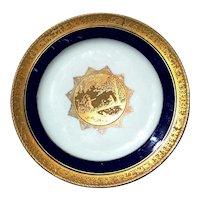 Vintage Signed Josef Kuba Bavaria Porcelain Plate, Circa 1930