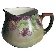 Antique French Limoges BlackBerry Pitcher By William Guérin & Co, Circa 1900