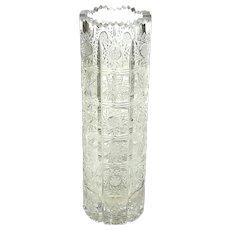 Antique Brilliant Cut Crystal Vase