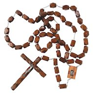 Large Vintage Wooden Rosary