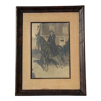 Early Vintage Framed Equestrian Photograph, Circa 1920