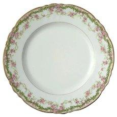 Antique Signed French Limoges Porcelain Plate For Bailey Banks & Biddle