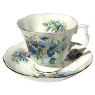 Vintage Royal Albert Bluebells Floral Cup And Saucer