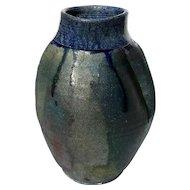 Vintage Signed American Raku Art Pottery Vase