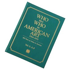 Who Was Who In American Art Three Volume Reference Set
