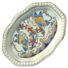 Early Vintage Signed Rosenthal Butterfly Ring Dish