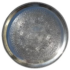 Early Vintage Signed Derby Silver Plate Company Tray