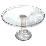 Large Vintage Pedistal Glass Cake Stand