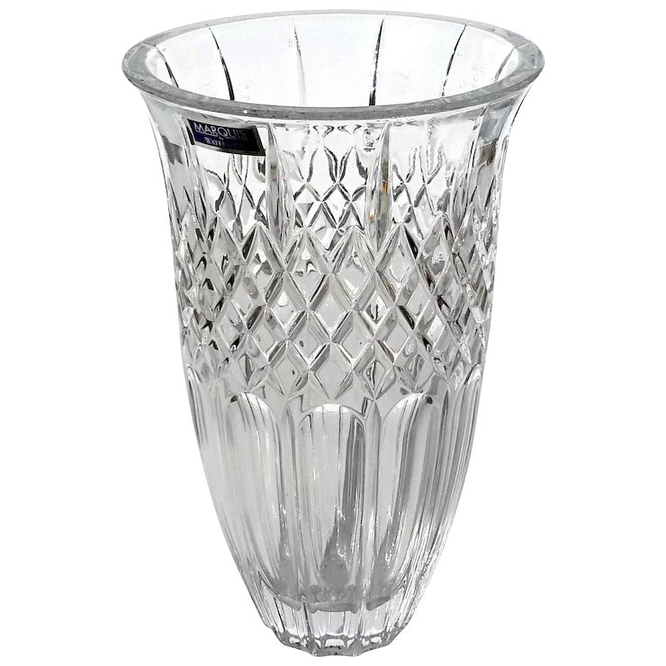 Signed Marquis By Waterford 8 Shelton Crystal Vase Stephen A