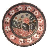 Vintage Mexican Tonala Pottery Large Plate