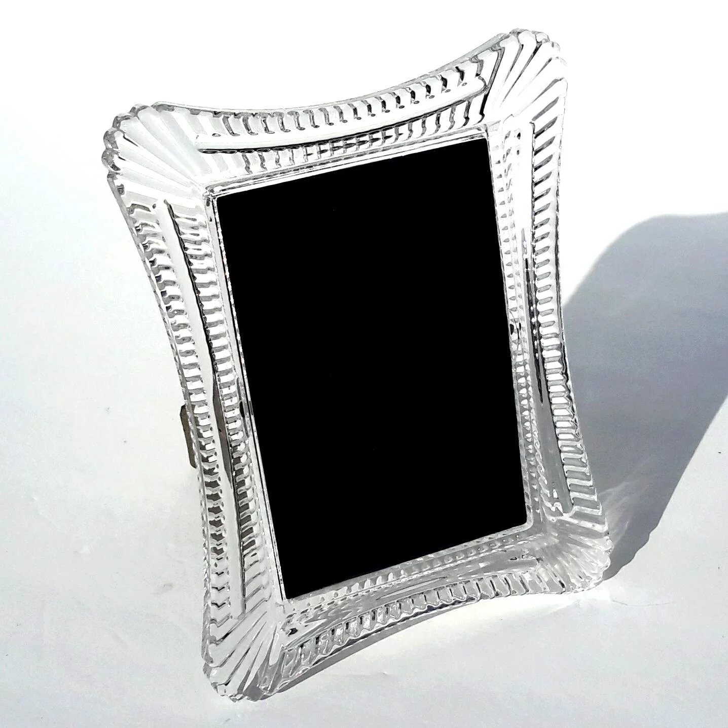 Signed Waterford Wellesley Crystal Picture Frame To Expand