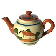 Devon Motto Ware Watcombe Torquay Pottery Teapot