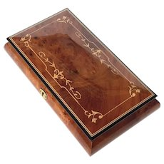 Vintage Italian Inlaid Wood Marquetry Music Jewel Box