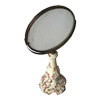 Vintage Italian Pottery Two Sided Vanity Mirror