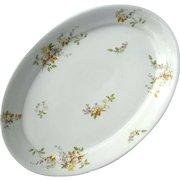 Antique Large Haviland Limoges Oval Platter