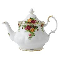 Vintage Royal Albert Old Country Roses Teapot