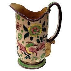 Early Vintage Italian Sgraffito Pottery Pitcher