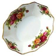 Vintage Royal Albert Old Country Roses Bonbon Dish