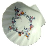 Vintage Signed French Porcelain Scallop Shell Bowl