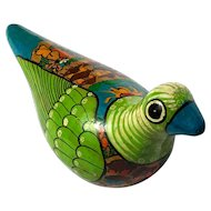 Vintage Mexican Hand-Painted Pottery Dove
