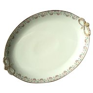 Extra Large Antique Jean Pouyat French Limoges Floral Porcelain Platter