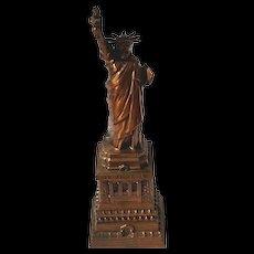 Vintage Statue Of Liberty Souvenir Cast Metal Bank