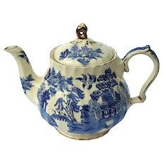 Vintage Sadler England Blue Willow Pottery Teapot