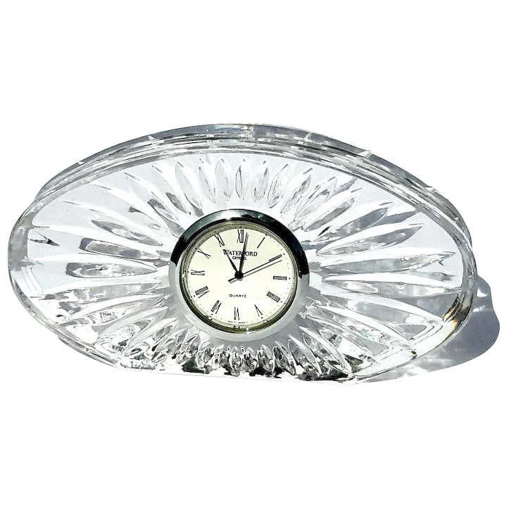Vintage Signed Waterford Crystal Clock