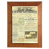 Framed Cover Of The Cultivator And Country Gentleman Newspaper, Circa 1882