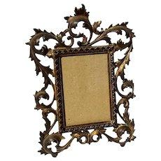 Antique Gilt Metal Picture Frame