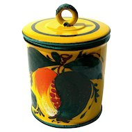 Vintage Signed Italian Majolica Pottery Canister Jar