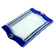 Italian Murano Glass Tray With Sterling Silver Handles