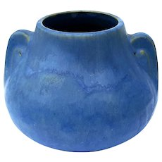 Vintage Brush McCoy Matte Blue Vase