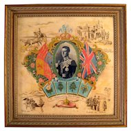 British Royal Commemorative King Edward VIII Coronation Napkin, Circa 1937