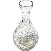 Signed Wedgwood Cut Crystal Bud Vase